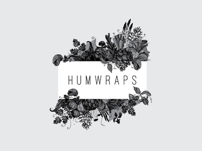 Humwraps wrapping-cloth handcrafted detailed vegetables fruit illustration drink food design logo