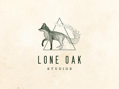Oak Fox bohemian realistic fox oak drawing geometric animal abstract photography design logo