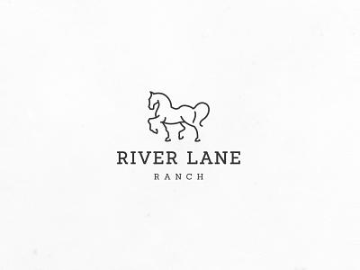 Horse line art ranch line-art minimalistic simple modern minimal luxurious elegant agriculture logo