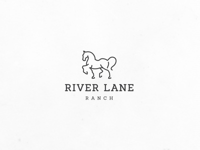 Horse line art ranch line-art minimalistic simple modern minimal luxurious elegant agriculture logo