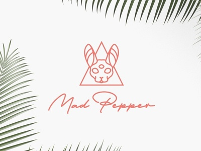 Mad Logo Simple lineart cat identity brand logo arts visual design branding personal