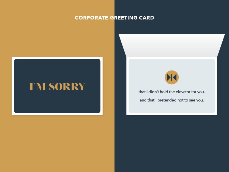 heres an im sorry corporate greeting card - Corporate Greeting Cards