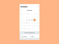 038 Calendar calendar 2020 visualdesign ui dailyui uidesign