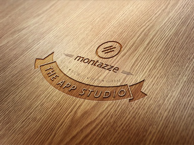 Montazze Logo Retro Wood montazze logo retro wood