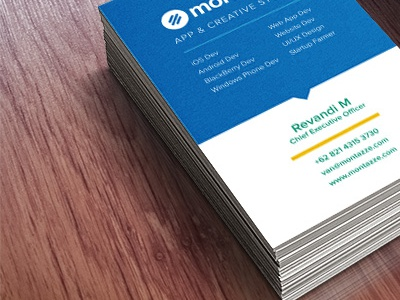 Montazze Business Cards business card name card flat