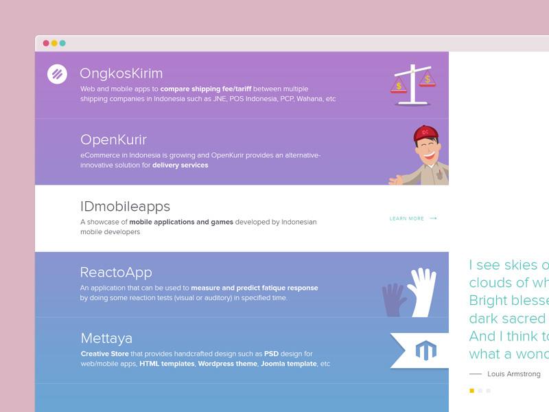 Montazze New Website montazze flat flat ui ios ios style website company profile