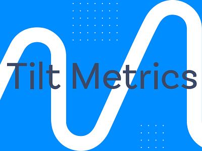 Tilt Metrics Patterns metrics data digital marketing marketing identity branding logo