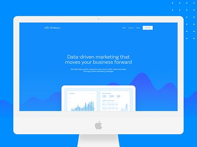 Tilt Metrics Desktop homepage web design website agency digital marketing marketing data metrics