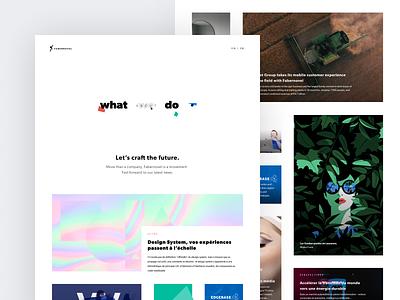 New website of Fabernovel — Homepage corporate webdesign website baseline homepage web design ux ui branding