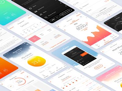 Sowee — App screens art direction energy design app mobile ux ui