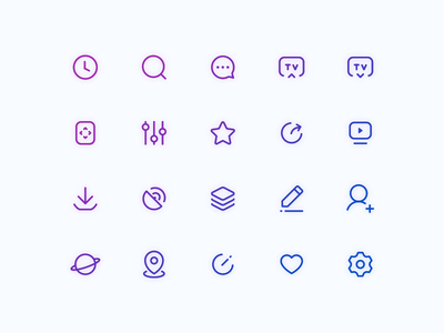Icon setting locate add edit download share control remote comment search history