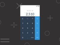 UI / UX Calculator Design