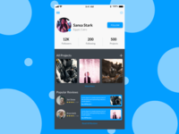 UI / UX Profile Design