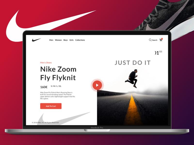 UI / UX Nike Design ui  ux nike design webdesign ui landign page uidesign design ui ux designer ui ux design ux design creative design