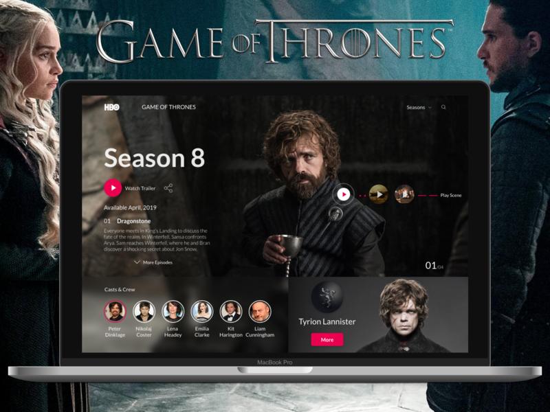 Game Of Thrones UI Design game of thrones ui design ui landign page uidesign design ui ux designer ui ux design ux design creative design