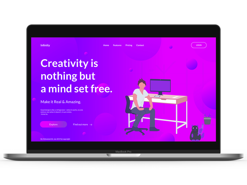 Creative Design webdesign landign page ui uidesign design ui ux designer ui ux design ux design creative design