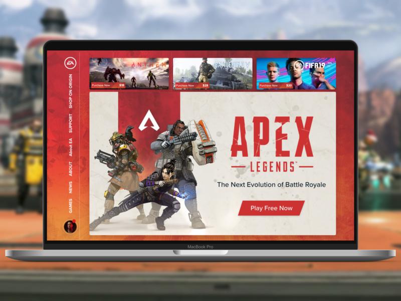 Apex legends webdesign ui landign page uidesign design ui ux designer ui ux design ux design creative design