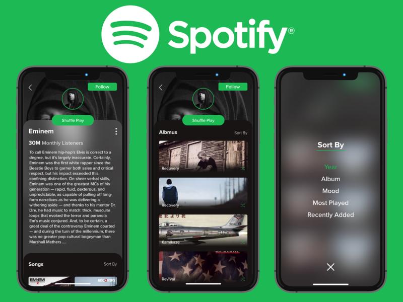 Redesign Spotify Concept redesign spotify concept ui uidesign design ui ux designer ui ux design ux design creative design