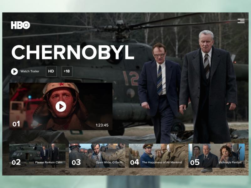 Chernobyl HBO Design chernobyl hbo design creative webdesign ui landign page uidesign design ui ux designer ui ux design ux design creative design
