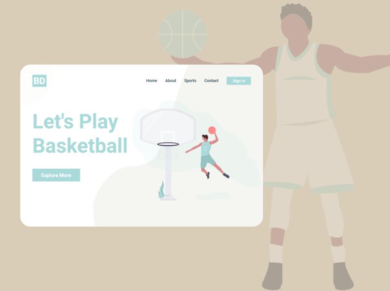 Basketball sports design sports basketball user interface ux uxdesign uidesign uiux ui