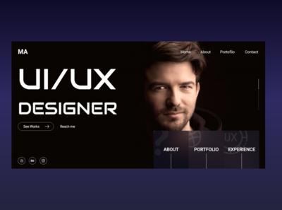 UI/UX  Designer Landing Page design creative landingpage ux uxdesign ui design uiux ui