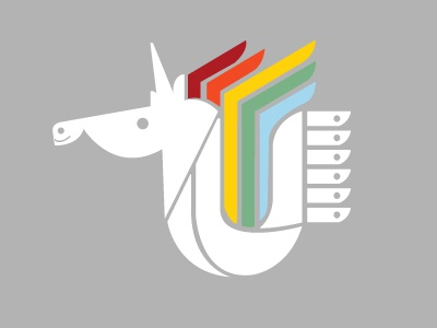 Holiday Unicorn holiday unicorn line color icon graphic design illustration vector