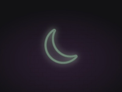 Neon Moon noen moon color texture illustration graphic design vector