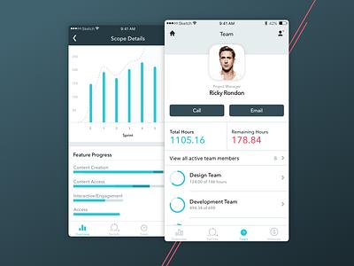 Power Up profile dashboard app ios