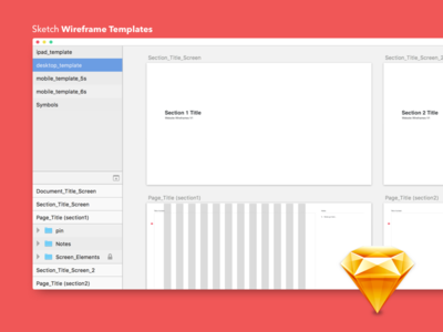 Free Sketch Wireframe Templates