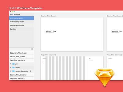 Free Sketch Wireframe Templates free wireframe sketch