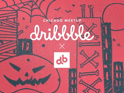 Chicago Dribbble Meetup halloween spooky chicagomeetup chicago meetup chicago dribbble devbridge db devbridgegroup dribbblemeetup chicagodribbble