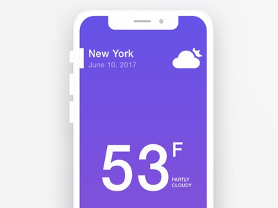 Using RapidAPI and Swift. iphone x mobile weather