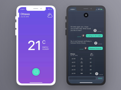 Weather Chatbot App ios app chatbot weather
