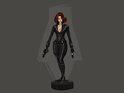 Black Widow illustration character design