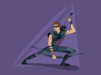 Hawk Eye illustration character design avengers