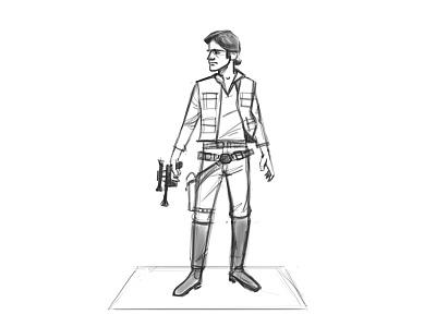 Han Solo wars star design character