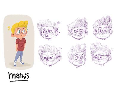 Mathis animation kid design character
