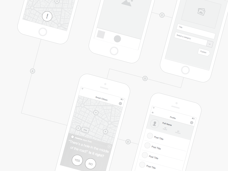 Wireframe - free .sketch download wireframe mockup psddd vector profile map mobile app download freebie sketch flat