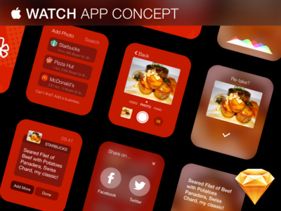 Apple Watch App Concept - Free .Sketch Download