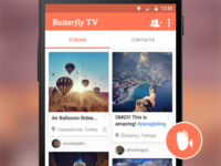 Home Screen - Butterfly TV Mobile App