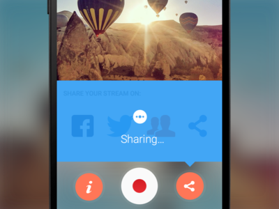 Share on Record Screen - Butterfly TV Mobile App