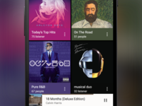 Material Design Music Feed (Sketch freebie)