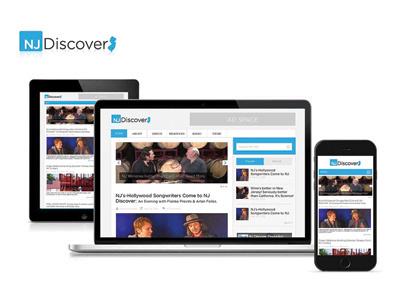 Njdiscover.com Website Design web design branding ux