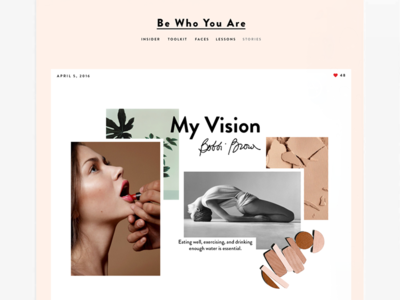 Blog Page Concept  clean collage template blog beauty