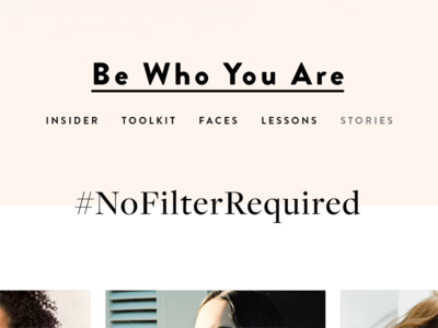 Blog Concept Type Treatments  typography template beauty clean blog