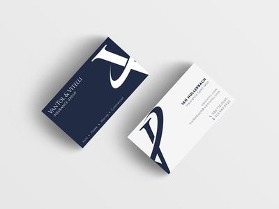 VanTol & Vitelli Business Card navy bold logo design inverse business cards branding rebrand