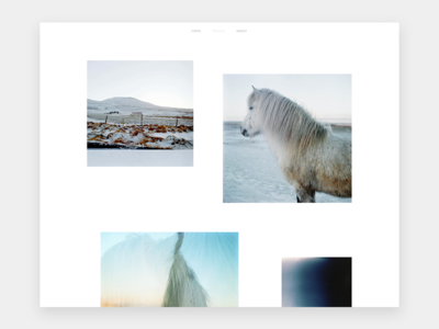 Personal Portfolio Travel Page film web design photography layout