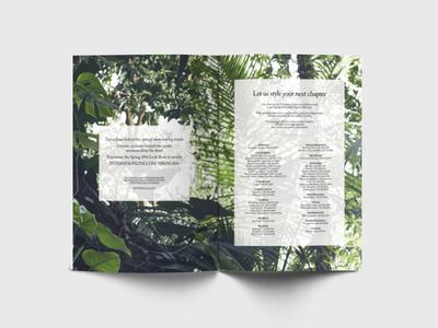 Intermix Look Book Spread look book typography print design publication