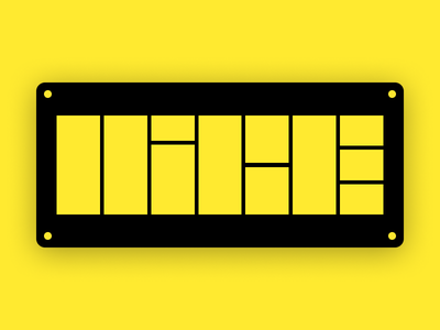 [Warm-up] Nice. black rectangle square type dribbble nice yellow warmup