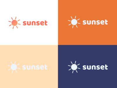 Logos - Sunset Brand Assets flat web app branding icon ux typography ui design logo illustration brand assets sunset hexa